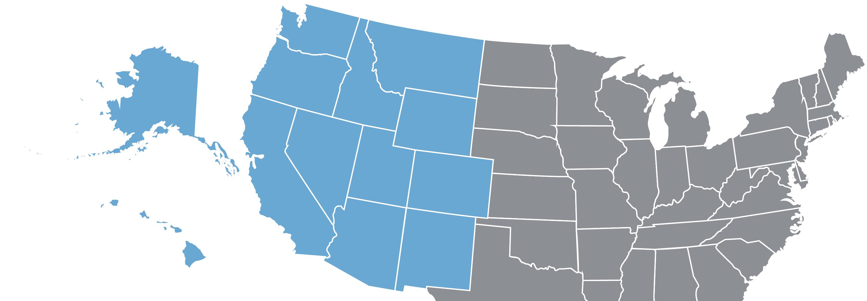 western united states telecom region